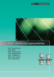TOX®-Verbindungssysteme - TOX PRESSOTECHNIK GmbH & Co.KG