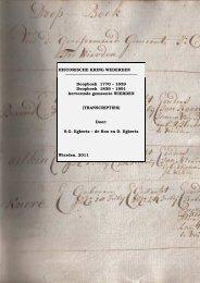Transcriptie Doopboeken 1770-1891 - Historische Kring Wederden