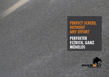 perfect screed, without any effort perfekter estrich, ganz ... - Ormet