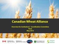 Presentation 6 (PDF 1.6MB) - Wheat Initiative