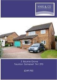 3 Bourne Grove Taunton Somerset TA1 2TD £249,950 - ISSL