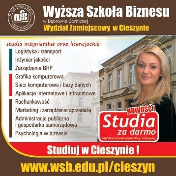 Studia - Wyższa Szkoła Biznesu w Dąbrowie Górniczej