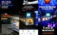 programma inaugurazione metropolitana di Brescia - Comune di ...