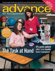 Pediatric OT - ADVANCE for Occupational Therapy Practitioners