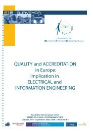 Quality and Accreditation in Europe: implication in ... - tuning project