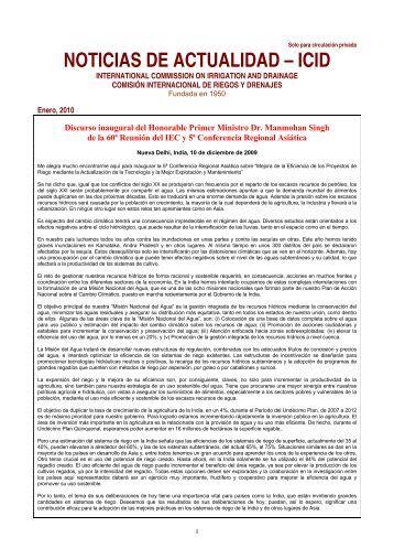 noticias de actualidad – icid - International Commission on Irrigation ...