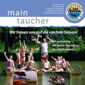 Termine /Veranstaltungen in 2008/09 - TSG Würzburg ev