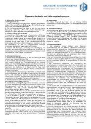 Gültig ab 16.04.2007 - Deutsche Edelstahlwerke GmbH