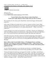 Newark Public Library Hosts Mystery Author Brad Parks