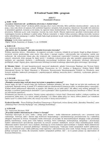 program - Wyższa Szkoła Biznesu w Dąbrowie Górniczej