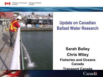 Update on Canadian Ballast Water Research - Pacific States Marine ...