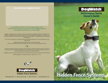 Owner's Guide - Electric Dog Fence