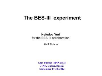 The BES-III experiment