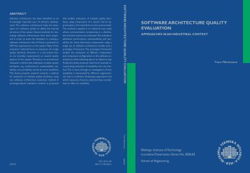 Software Architecture Quality Evaluation - Approaches in an ...