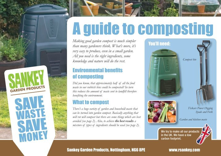 the environmental benefits of compost Alternative energy tutorial about the benefits of composting for the environment and how to make good quality compost from household and garden waste.