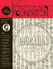 NEWSLETTER - The Kosciuszko Foundation