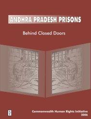 Andhra Pradesh Prisons - Commonwealth Human Rights Initiative