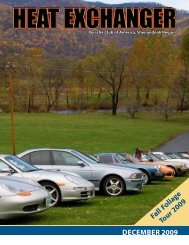 DeCembeR 2009 - Shenandoah Region Porsche Club of America
