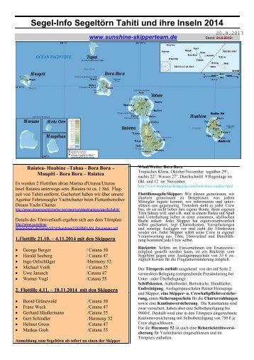 Segelinfo Tahiti - skipper-markus.de