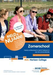 Zomerschool - Horizon College