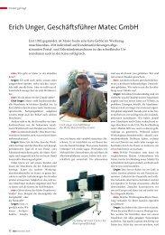 Interview mit Erich Unger - matec