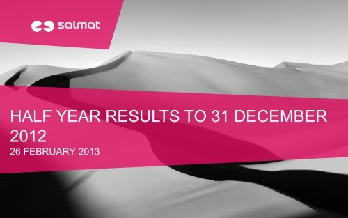 Half Year Results presentation - Salmat