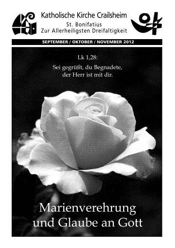 Marienverehrung und Glaube an Gott - Katholische Kirche in ...