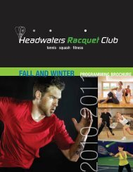 2010-2011 - Headwaters Racquet Club