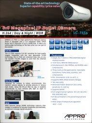 3.0 Megapixel IP Bullet Camera - appro technology inc.