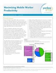 Maximizing Mobile Worker Productivity - NetMotion Wireless
