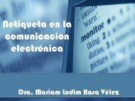 Netiqueta en la comunicación electrónica - UPRM