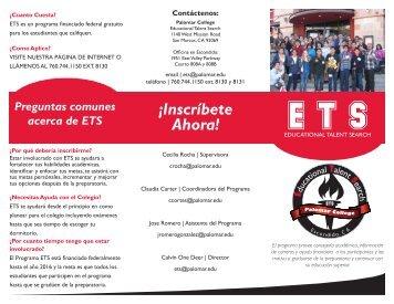 ETS Folleto (spanish) - Palomar College