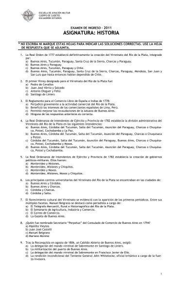 Año 2011 en formato .PDF - Escuela de Aviación Militar Argentina