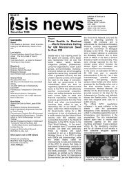 ISIS News 3 - The Institute of Science In Society