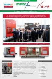 For standard machines and customized machine concepts ... - matec