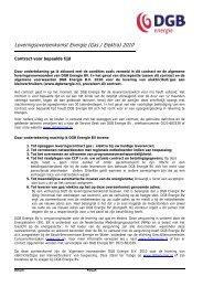 Leveringsovereenkomst Energie (Gas / Elektra) 2010 - DGB energie