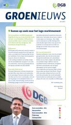 Samen op zoek naar het lage marktmoment - DGB energie