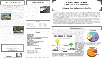 ALABAMA DEPARTMENT OF ENVIRONMENTAL MANAGEMENT ...