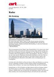 Radar - Rik Reinking - Rik Reinking über Rudolf Reiber - Kunst - art ...