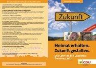 Wahlprospekt Wahlkreis 5 - CDU Kreisverband Freudenstadt