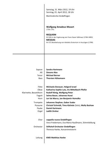 Programm downloaden - Evangelische Martinskirche Sindelfingen