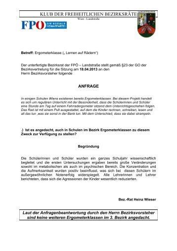 BV-Sitzung April 2013 - Landstraßer FPÖ