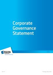 Corporate governance statement - March 2013 - Aegon
