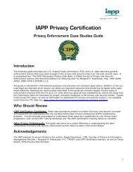Privacy Enforcement Case Studies Guide - International Association ...