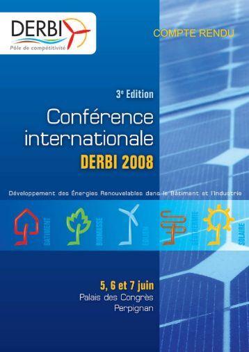 Télechargez le compte rendu de la Conférence ... - Derbi