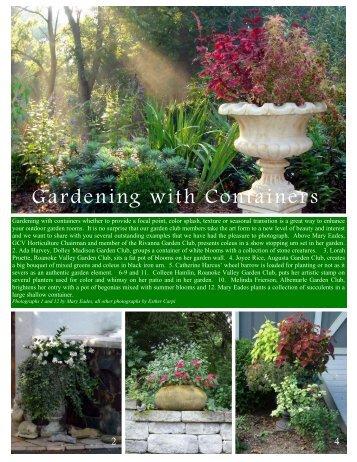 Container Gardening - Garden Club of Virginia