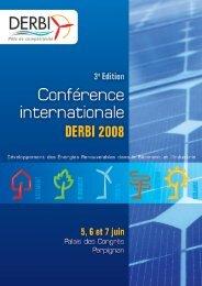 Téléchargez le document de présentation de la Conférence ... - Derbi