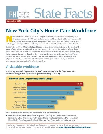 New York City's Home Care Workforce - PHI