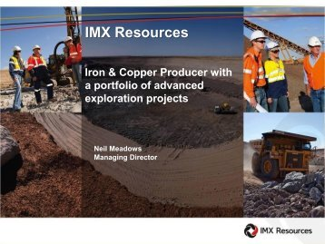 MD Mines and Money Presentation 2012 - IMX Resources Limited