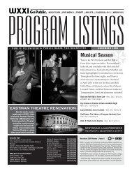Program Listings - December 2009 - WXXI